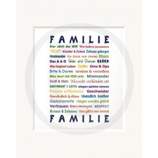 Sweetdesign: Passepartout-Bild Familie